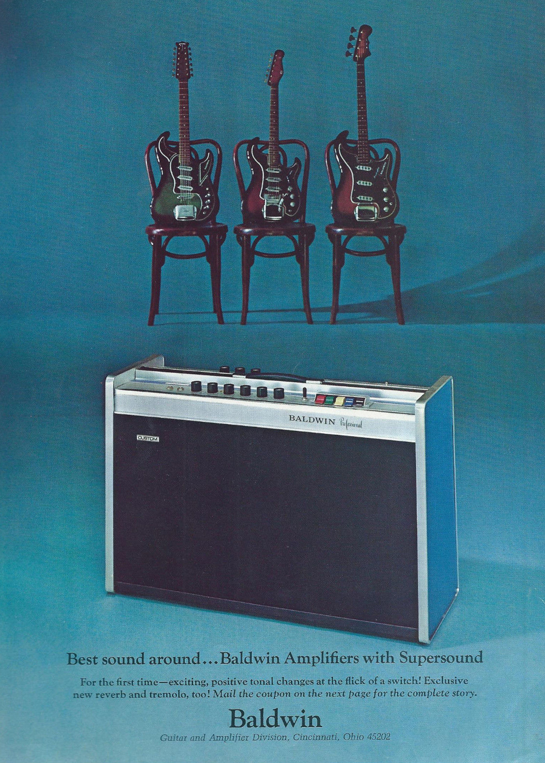 8f2a2087c9511a 1966 Best sound around ... Baldwin Amplifiers with Supersound ...